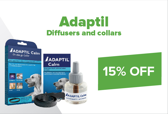 15% off Adaptil Diffusers and collars